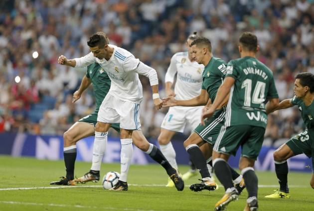Cristiano retorna, pero el Real Madrid cayó ante el Betis