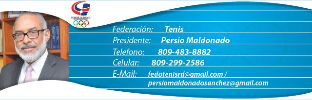 Persio Maldonado, presidente federación dominicana de tenis
