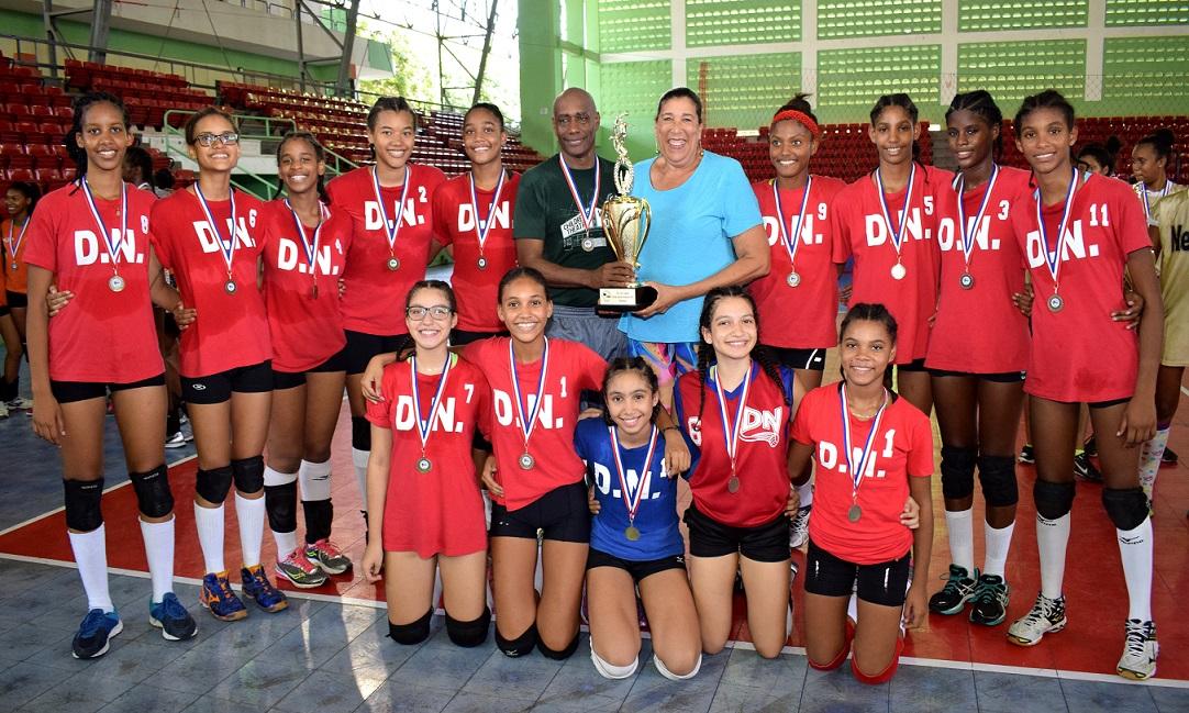 Distrito Nacional, campeón en voleibol infantil