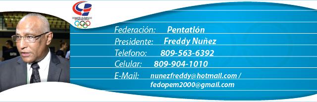 Freddy Nuñez, presidente federación dominicana de pentatlón