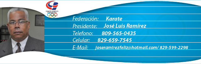 Jose Luis Ramíres, presidente federación dominicana de karate