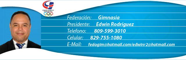 Edwin Rodríguez, presidente federación dominicana de gimnasia