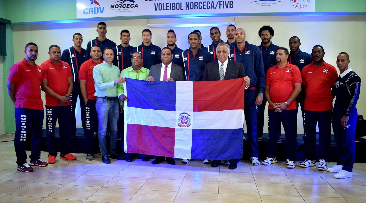 Presentan nacional de voleibol masculino participará en Copa Panam