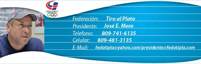 Jose Mera, presidente federación dominicana de tiro al plato