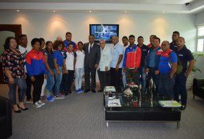 Ministro de Deportes resalta labor de pesistas en Centroamericanos