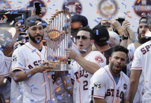 Houston festeja el título de Serie Mundial de Astros