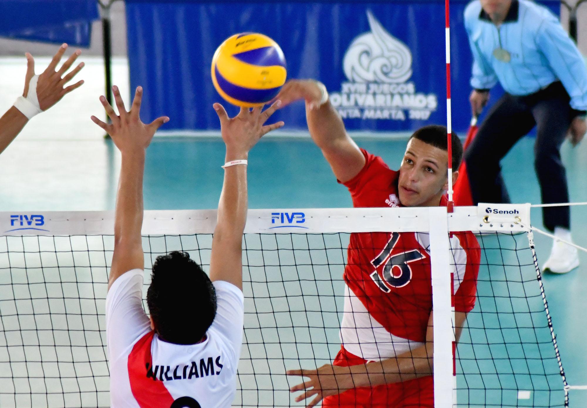 Sexteto masculino vence a Perú en voleibol Bolivarianos
