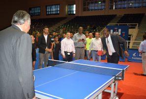 Dan apertura a campeonato nacional superior de Tenis de Mesa