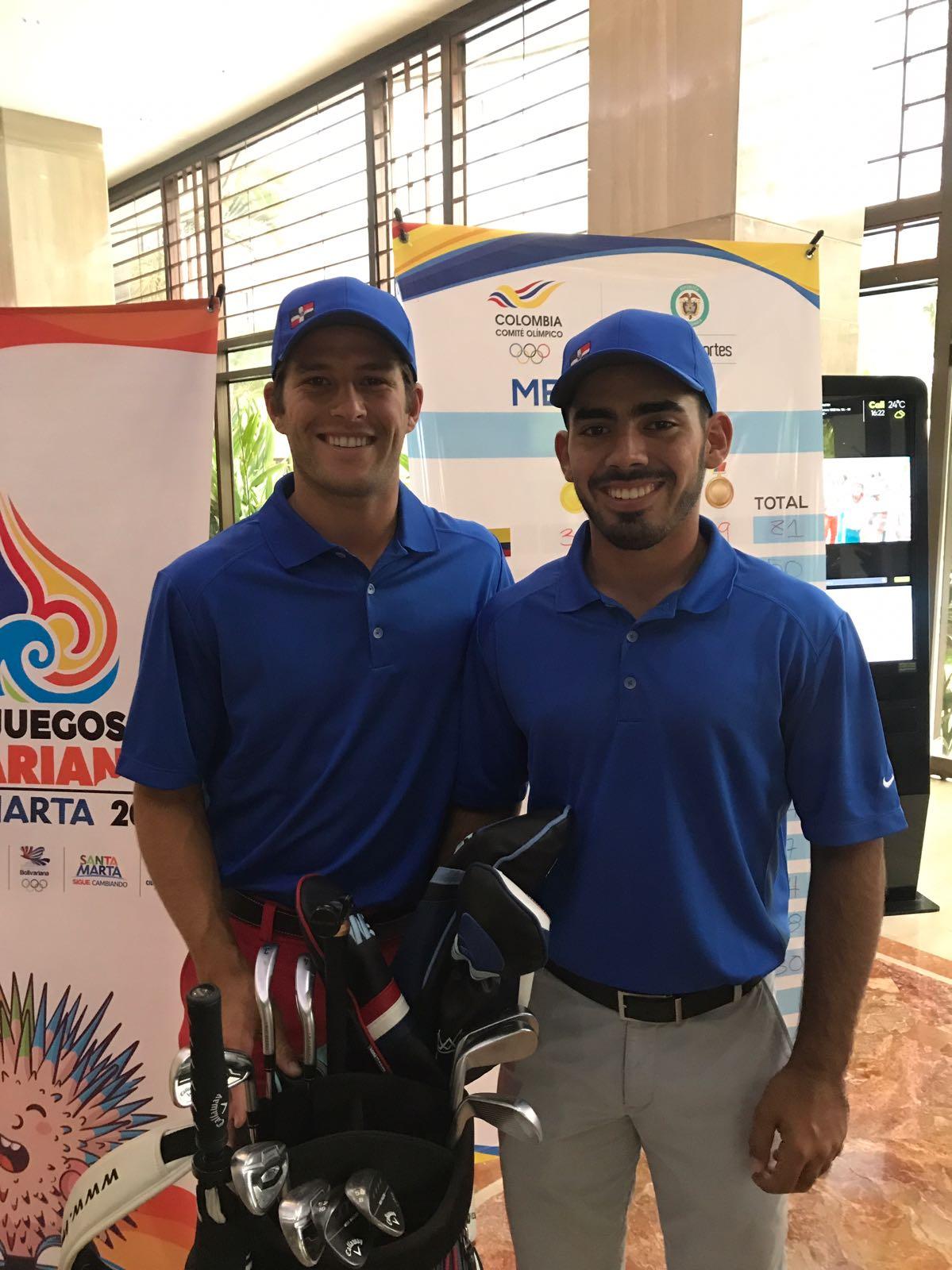Juanjo y Pumarol, los primeros golfistas RD en participar en Bolivarianos
