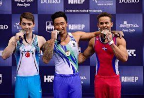 Audrys gana bronce en barras paralelas en mundial gimnasia