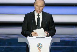 Putin da la bienvenida a aficionados y equipos del Mundial de Fútbol