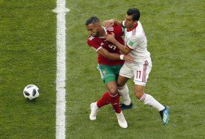Irán gana a Marruecos en partido en Grupo B de Mundial