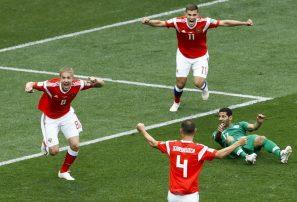 Rusia golea a Arabia Saudita en inicio de Mundial de Fútbol