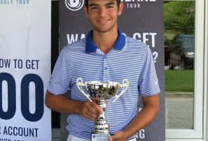 Dominicano Julio Ríos gana en torneo Greg Norman Junior Open de Golf