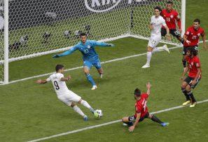 Giménez da victoria a Uruguay ante Egipto en Mundial de Fútbol