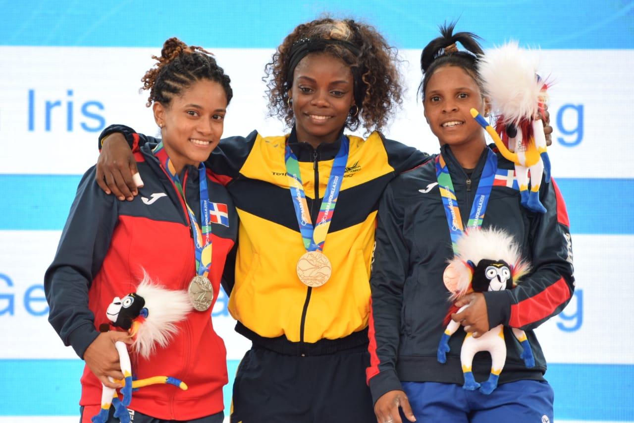 Georgina Silvestre y Santa Dolorita Cotes, plata y bronce en pesas