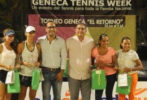Claudine García y Freddy Mañaná, campeones torneos Geneca