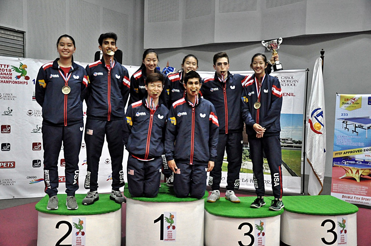 USA, Canadá, Argentina y Brasil, a mundial juvenil tenis de mesa