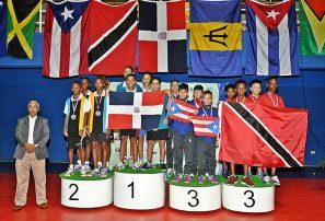 RD consigue tres oros por equipo en campeonato del Caribe tenis de mesa