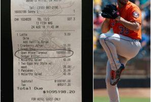 Restaurant cobra un millón de dólares a beisbolista Justin Verlander