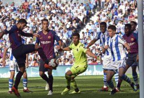 Barcelona tuvo que poner un poco más para vencer a la Real Sociedad