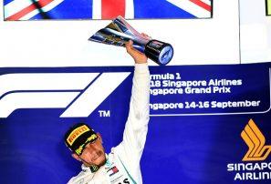 Lewis Hamilton gana el Gran Premio de Singapur F-1, Alonso séptimo