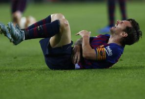 Barcelona gana y pierde a Messi; Juventus empata con gol de Cristiano