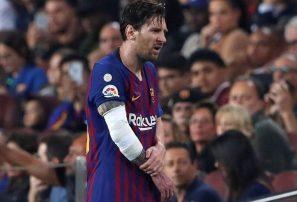 Lionel Messi estará próximas tres semanas fuera de juego para el Barcelona