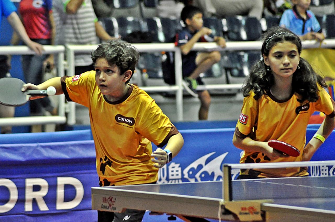 Cabrera y Muñoz, plata en dobles mixtos Latinoamericano Tenis de Mesa