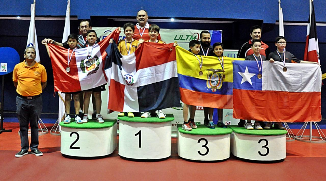 Cabrera y Vila, oro equipo U-11 en Latinoamericano Tenis de Mesa
