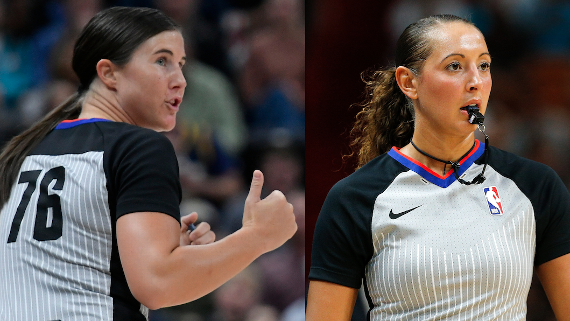 NBA promueve a dos mujeres a árbitros de tiempo completo