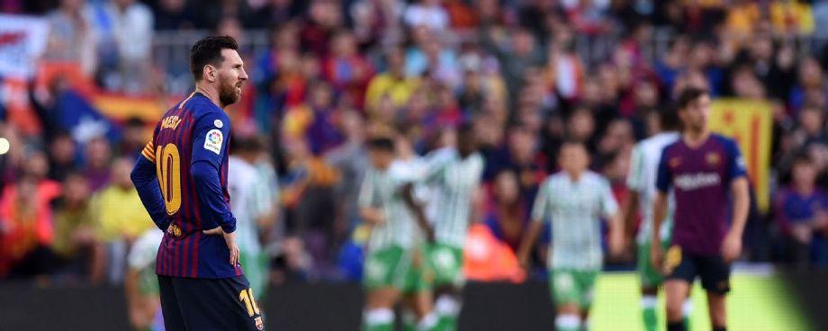 El Barcelona cae ante el Betis en el regreso de Messi