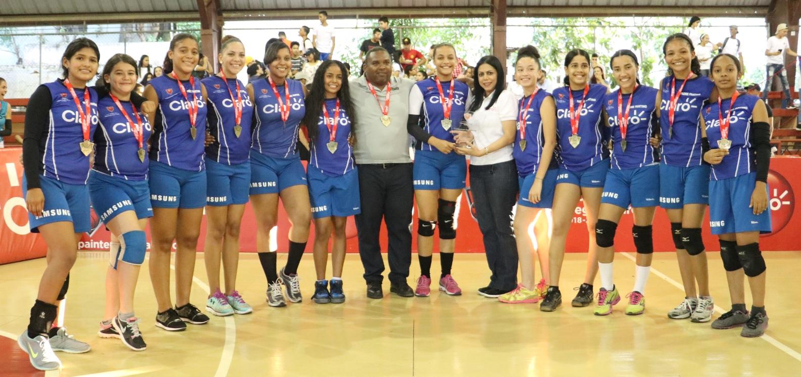 Padre Fantino se coronó campeón etapa Cibao de Copa Intercolegial de Voleibol Femenino