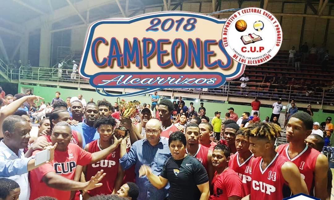 Club CUP campeón en el torneo de baloncesto superior de Los Alcarrizos