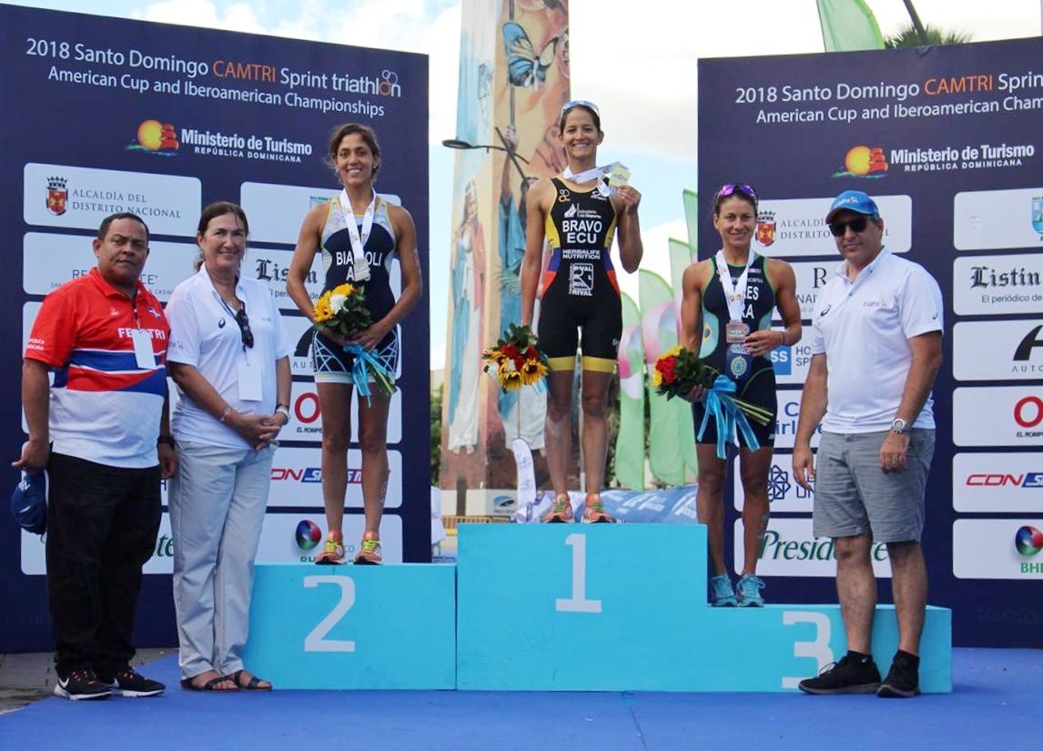 Huffman y Bravo, campeones Panamericanos e Iberoamericanos Élite de Triatlón
