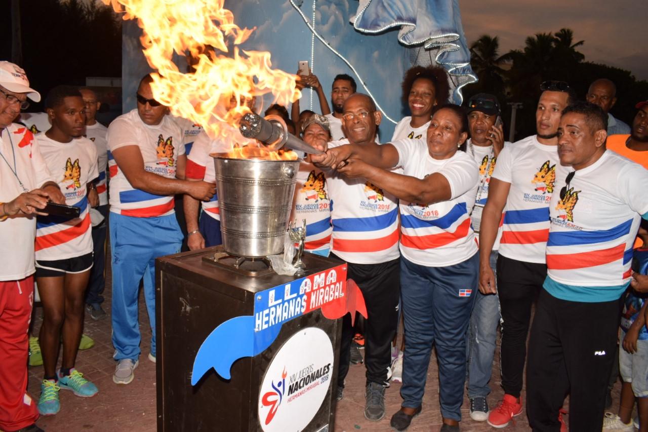 San Juan, Elías Piña y Neiba recibieron el fuego Juegos Nacionales