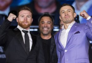 De la Hoya pide enfrentamiento Golovkin ante 'Canelo' en mayo