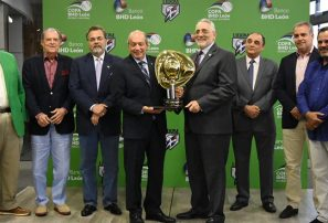 Presentan copa para el equipo ganador del torneo de béisbol de Lidom