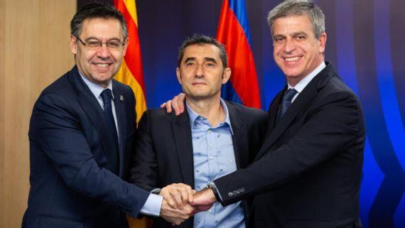 El Barcelona renueva un año el contrato su dirigente Ernesto Valverde