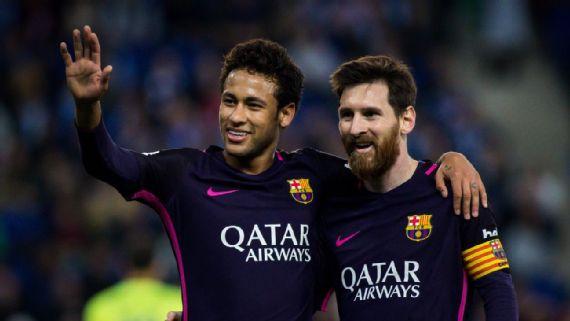 Neymar se conmueve al recordar el apoyo que tuvo de Messi