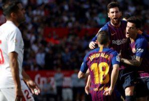Messi catapulta al Barcelona en Sevilla