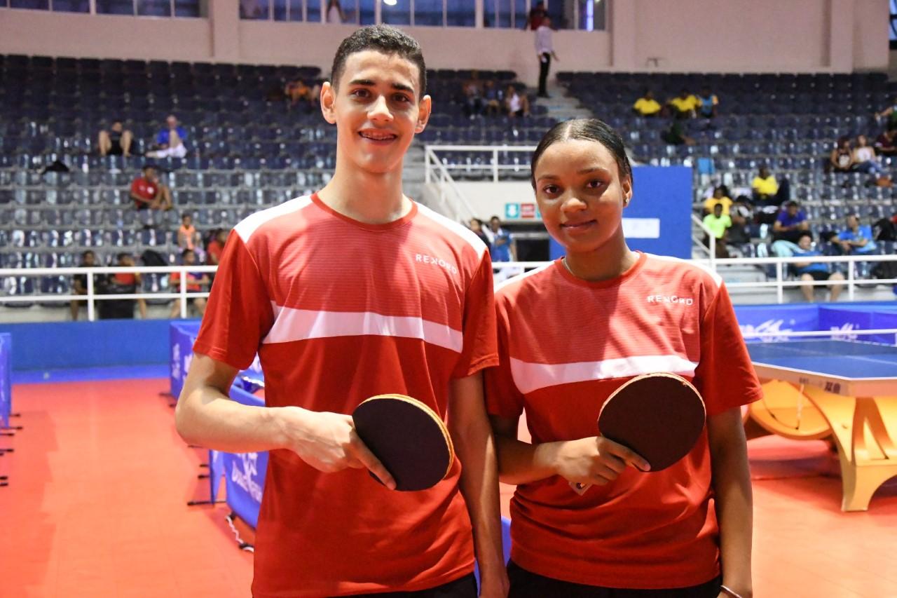 Castro y Lockward, oro en dobles infantil y juvenil del Caribe tenis mesa