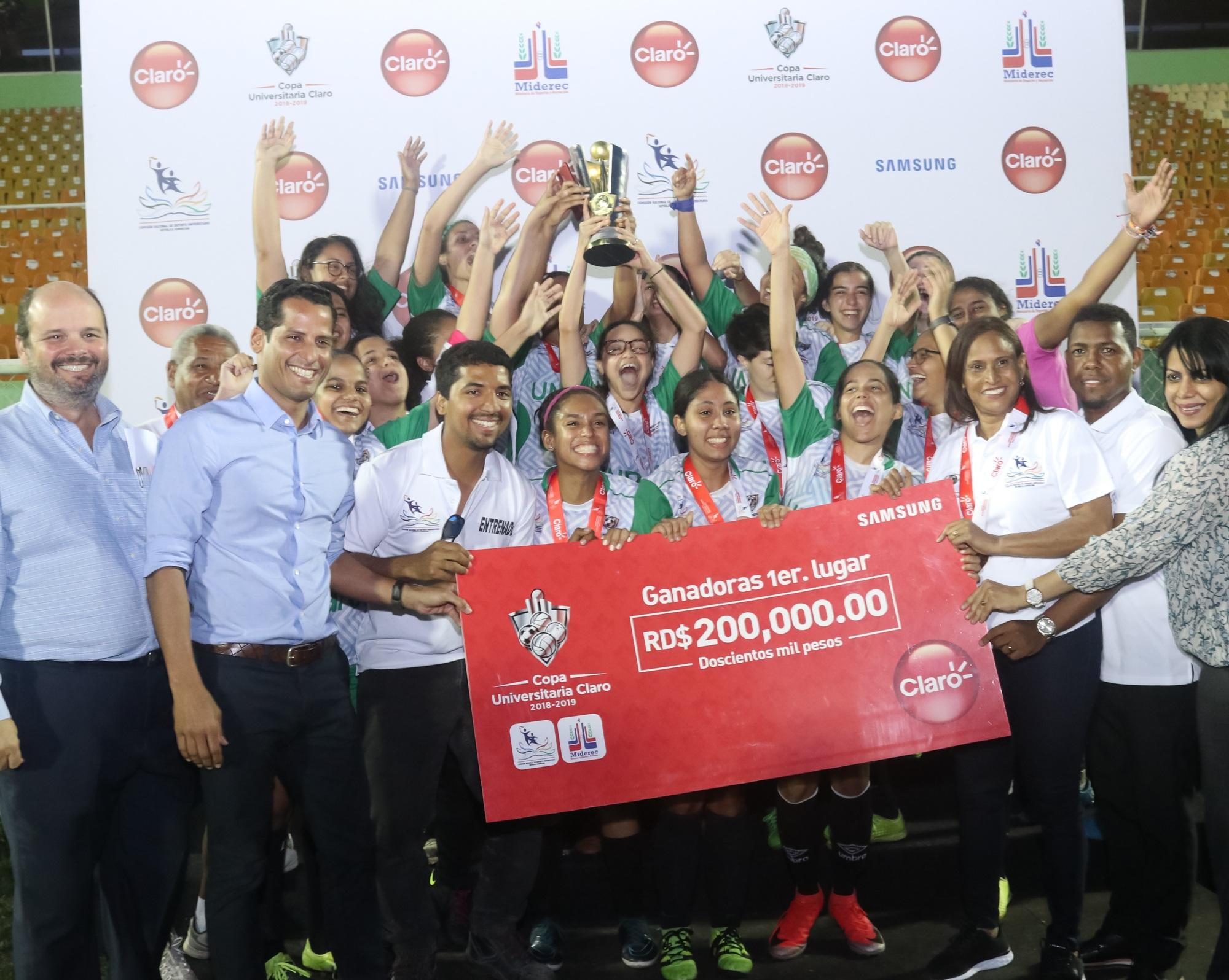 UNPHU se corona campeón del evento femenino de la Copa Universitaria