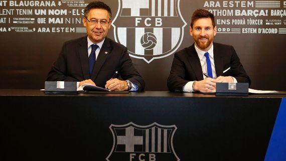 Barcelona quiere renovar a Lionel Messi