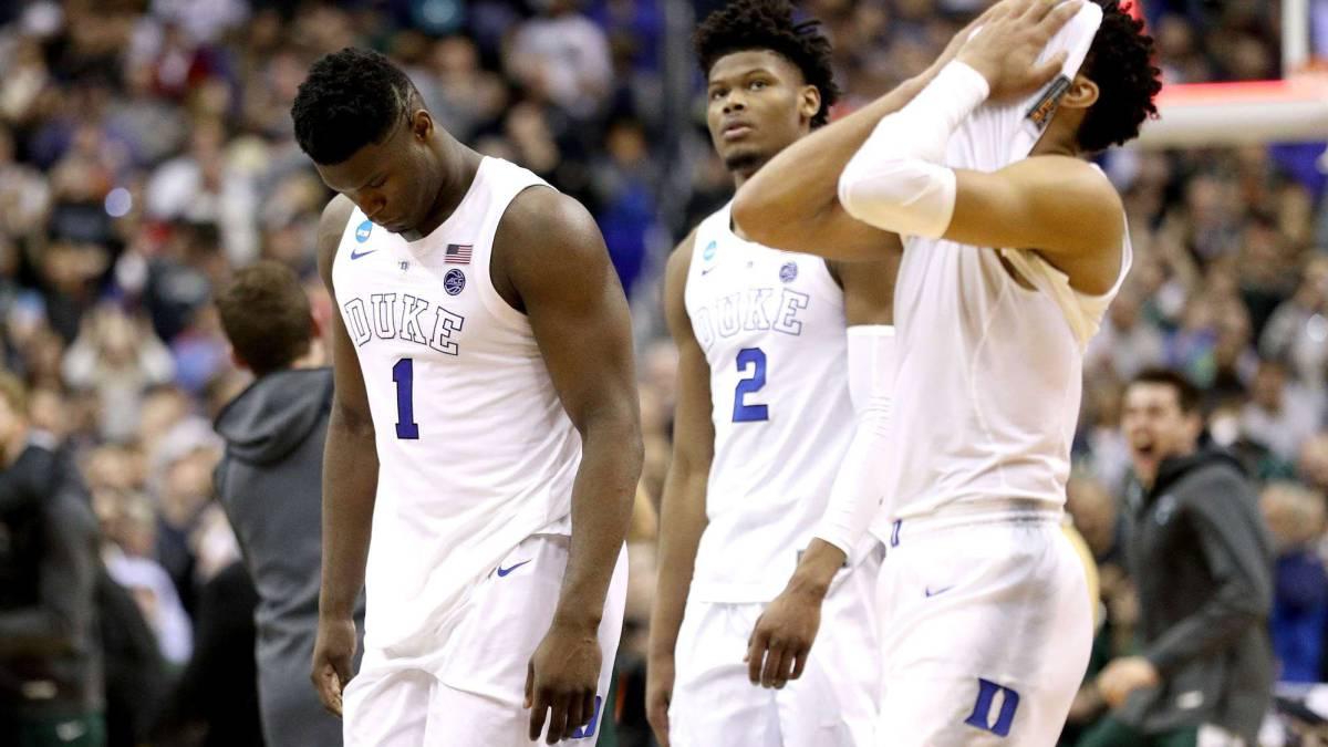 Duke, donde juega Zion Williamson, queda fuera del Final Four