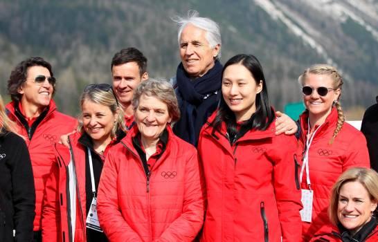 COI visita en Cortina las instalaciones para esquí, salto, patinaje o luge