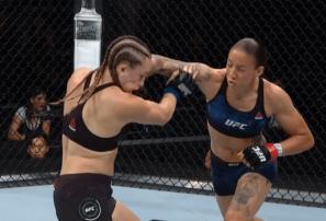 Peleadora conecta el nocaut más rápido en la UFC femenina