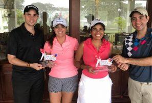 Dúo Villalona y García se destacan en torneo de golf de la AHSD