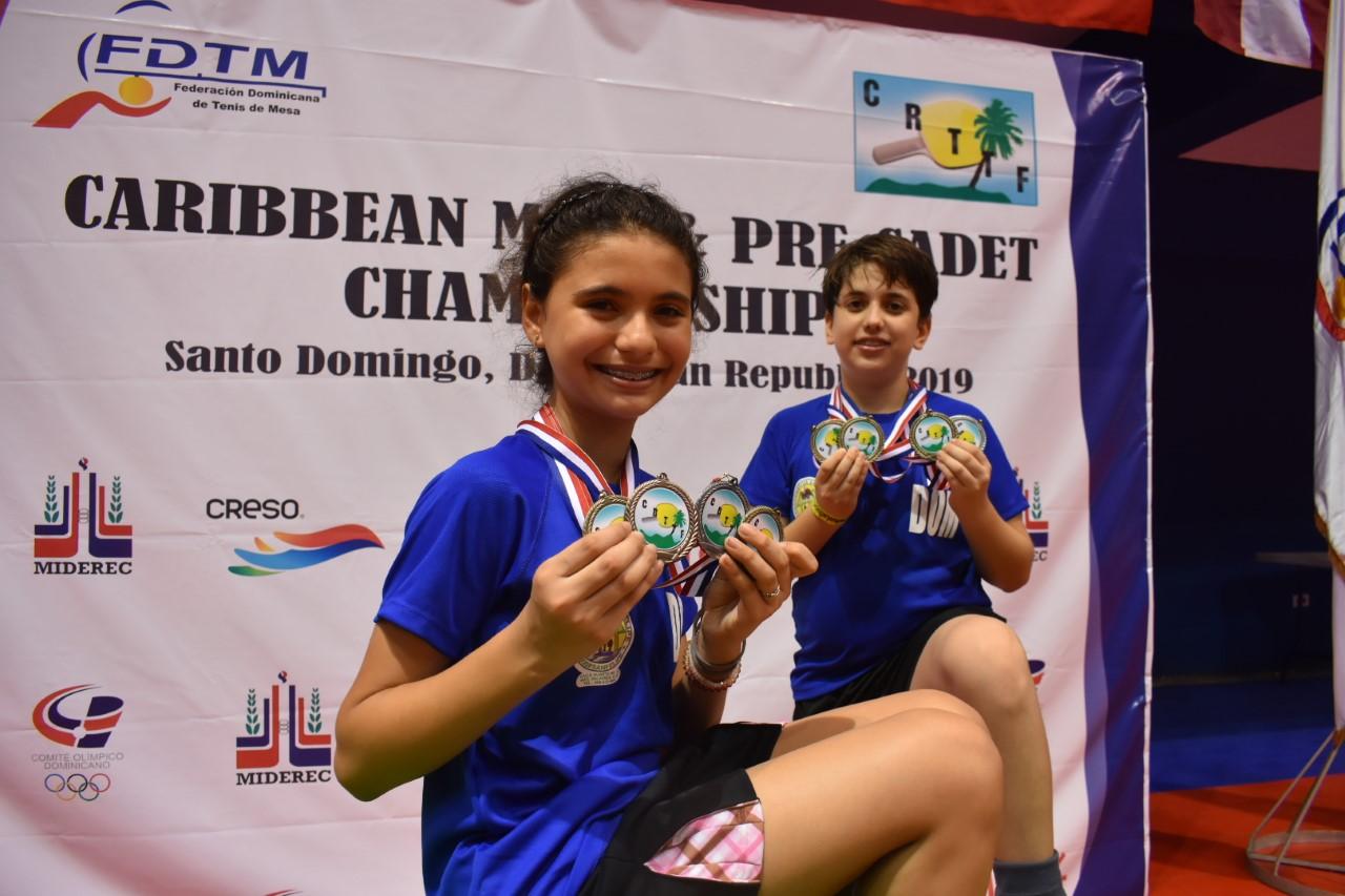 Shary Muñoz y Ramón Vila sobresalen en torneo del Caribe tenis mesa