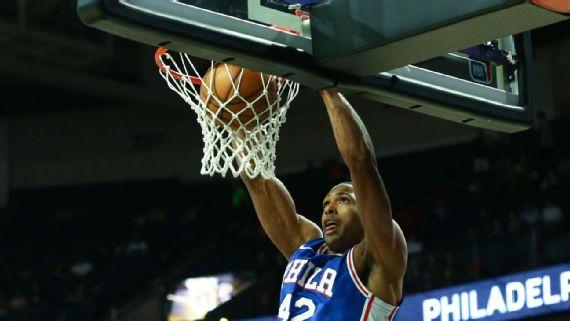 Seis jugadores con cifras dobles en victoria de Filadelfia; 11 puntos para Horford